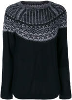 Yohji Yamamoto contrasting knit sweatshirt