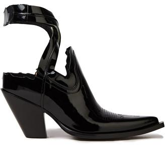 Maison Margiela Cutout Patent-leather Ankle Boots
