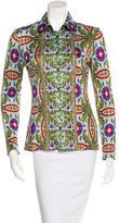 Philosophy di Alberta Ferretti Long Sleeve Button-Up Top
