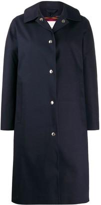 MACKINTOSH FAIRLIE Navy Bonded Cotton Coat | LR-079D