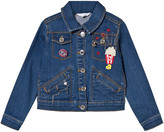 Little Marc Jacobs Blue Denim Jacket with Embroidered Detail and Charms