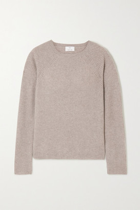 Allude Ribbed Cashmere Sweater - Gray