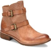 Sofft Baywood Perforated Leather Buckle Strap Booties