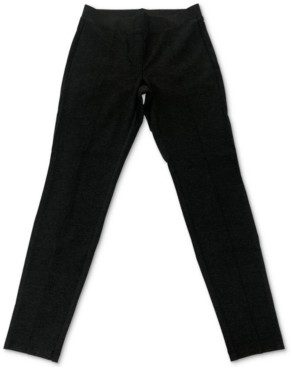Style&Co. Style & Co Petite Heathered Seam-Front Ponte-Knit Pants, Created for Macy's