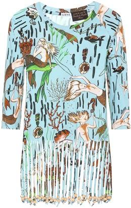 Loewe x Paula's Ibiza fringe cotton T-shirt