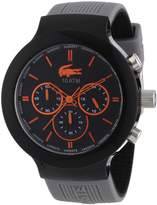 Lacoste Men's Borneo 2010655 Grey Silicone Analog Quartz Watch with Dial