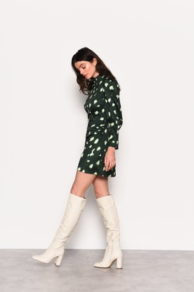 Glamorous Womens **Green Abstract Spot Print Mini Dress By Green