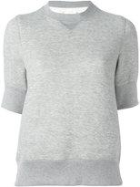 Sacai sweat T-shirt - women - Cotton/Nylon - M