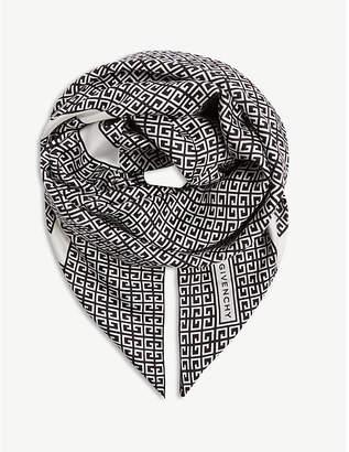 Givenchy Silk logo-print scarf