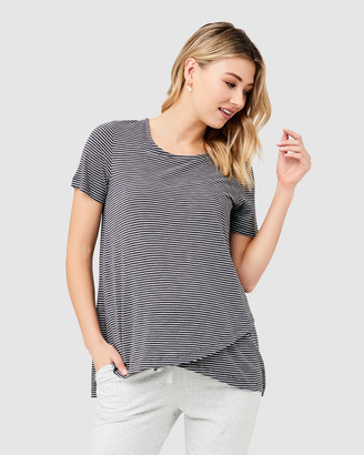 Ripe Maternity Women's Grey Short Sleeve Tops - Maison Nursing Tee - Size One Size, S at The Iconic
