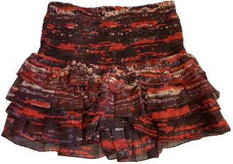 Isabel Marant Pour H&m Red Silk Skirt for Women
