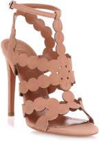 Alaia Tan suede circle sandal