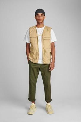 Anerkjendt Akpack Military Style Pocket Waistcoat - S / Green
