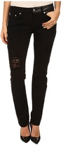 McQ by Alexander McQueen Patched Low Waist Skinny Jeans