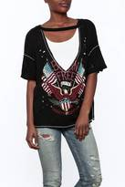 Emory Park Black Distressed Graphic Tee