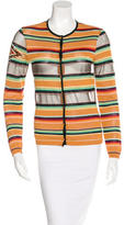 Christian Dior Embellished Striped Cardigan