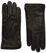 John Varvatos Leather Whip Stitched Gloves