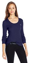 U.S. Polo Assn. Juniors' Cable-Knit Scoop-Neck Pullover Sweater