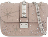Valentino Embroidered star Rockstud small leather shoulder bag