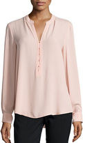 Ivanka Trump Sheer Crepe Long Sleeve Blouse