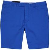 Polo Ralph Lauren Blue Slim-leg Stretch Cotton Shorts
