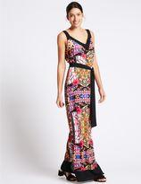 Marks and Spencer Printed Maxi Dress with Belt