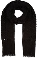Barneys New York WOMEN'S BLACK WOOL-BLEND SCARF