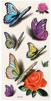 G.G.G. GGG 3D Flower Flying Butterfly Temporary Tattoo Sticker Body Art Removable Tattoo Decals