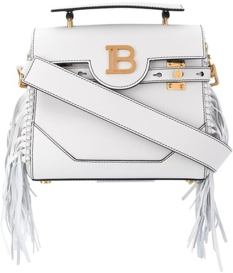 Balmain B-Buzz 23 fringed tote bag