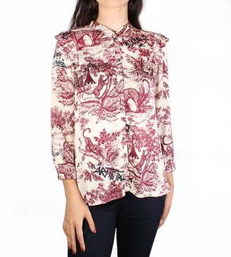 Zadig & Voltaire Tygg Toile Print Satin Top
