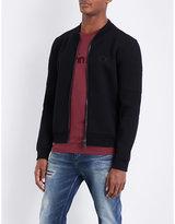 Calvin Klein Kahem jersey moto bomber jacket