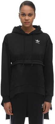 adidas RUFFLED COTTON BLEND HOODIE