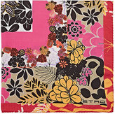 Etro Men's Floral-Print Silk Pocket Square