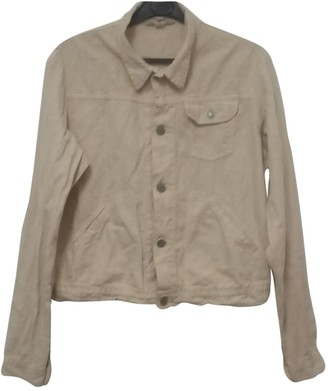 R By 45 Rpm Brown Cotton Jacket for Women