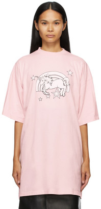Vetements Pink Magic Unicorn T-Shirt