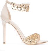 Monique Lhuillier glitter sandals