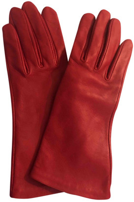 Agnelle Red Leather Gloves