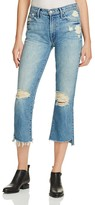 Mother Insider Crop Step Fray Jeans in Blue