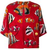 Dolce & Gabbana fish printed loose jacket