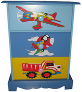 Plane Theme 3 Drawer Bedside Table