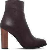 Carvela Salvador metallic-heel leather ankle boots
