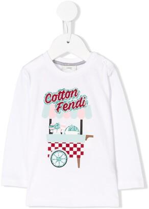 Fendi Kids long sleeve T-shirt