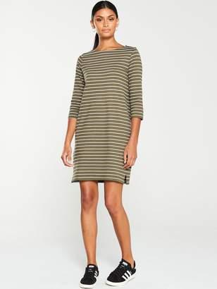 Very The Essential Three Quarter Sleeve Dress - Stripe