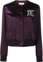 Christopher Kane Cady bomber jacket - women - Polyester/Acetate/Viscose - 42