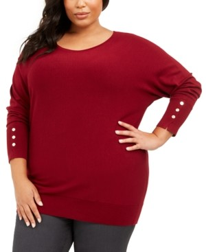 JM Collection Plus Size Dolman Sweater, Created For Macy's