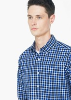 Mango Outlet Slim-Fit Gingham Check Shirt