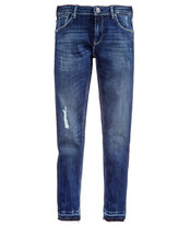 GUESS Released Hem Distressed Skinny Jeans, Big Girls (7-16)