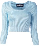 Jeremy Scott cable knit cropped jumper
