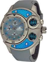 Adee Kaye Men's Carbon Fiber 53.74mm Silicone Band Steel Case Quartz Analog Watch AK8001-MT