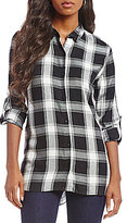 Chelsea & Theodore Button Up Plaid Tunic
